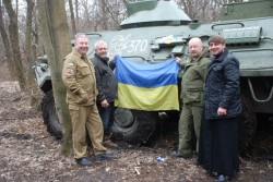 ВОЙКОВО. Священик з гуманітарною місією відвідав українських військових на Сході України